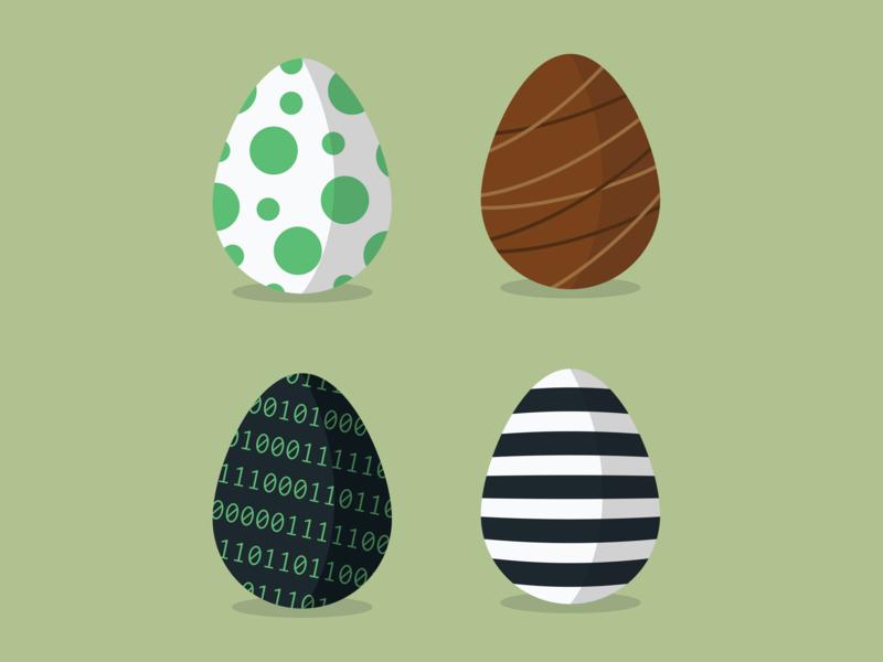 Easter Eggs egg easter illustration minimal flat design drawing illustrator