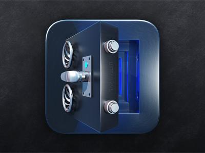 Safe Icon ツ ios icon metal safe icondesign chrome cold