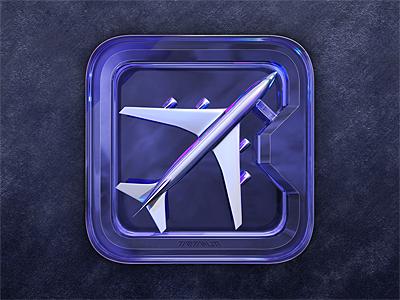 Airplane ツ ios icon icondesign futuristic dream chrome pearl icon design app icon airplane b747 airport avionic flyiny flight