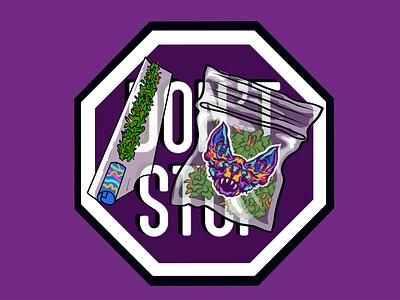 DON'T STOP sticker in purple roadsign blackandwhite black whitespace custom dark zip punk startup procreate pattern print poster illustrator photoshop illustation sticker purple