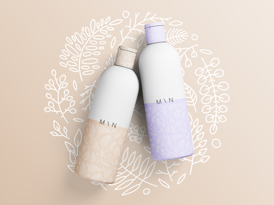 Organic cosmetics minimal packaging design liliac white beige purple art photoshop mockup illustration minimalist bio eco organic cosmetic logo cosmetic packaging cosmetic bottles product design product packaging minimal