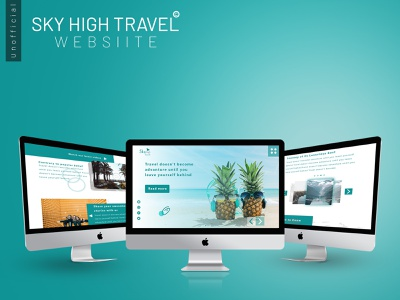 Sky high web design ui