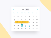 Calendar reminder mobile responsive element component module app web ui ux schedule appointment time year month day date picker picker date calendar
