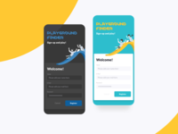 What you can do with Liquid – Vol. 7 darkmode dark mode password signupform sign up signup registration register login play illustration slide mobile button ui ux application app what you can do with liquid liquid design system