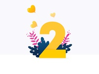 GIVE AWAY:  2 Dribbble invites! hearts heart leaves leaf 2 two illustration raffle give away invitation drafts invites dribbble
