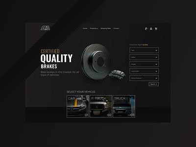B2C Product Page – Centro Automotriz car brakes ux design ui design ecommerce b2c hero section web design
