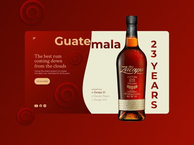 Daily UI 003 – Landing Page red bottle alcohol daily 100 challenge 003 landing page dailyui 003 dailyui