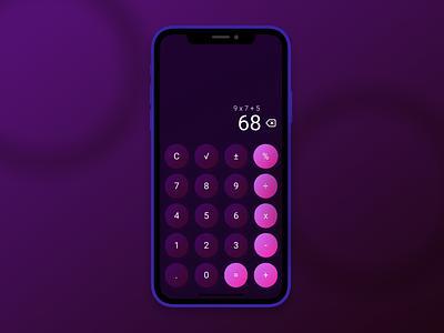 Daily UI 004 – Calculator spacial dailyuichallenge calculator dailyui004 dailyui