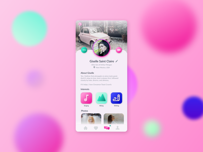 Daily UI 006 – User Profile app mobile tinder dating dailyuichallenge006 user profile dailyui006 ui design dailyuichallenge dailyui