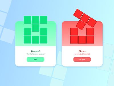 Daily UI 011 – Flash Message form success error tetris dailyui011 011 flash message ui design dailyuichallenge dailyui