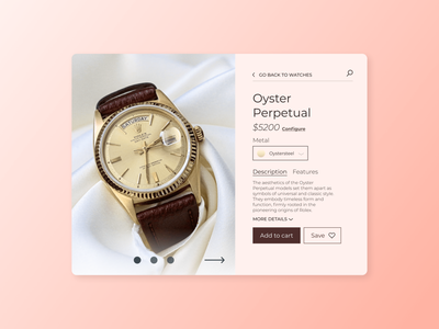 Daily UI 012 – eCommerce Product Page dailyui012 watches watch store single item product page ux dailyuichallenge dailyui