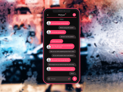 Daily UI 013 – Direct Messaging app mobile dailyui013 messenger inbox message ux 013 direct messaging dailyuichallenge dailyui