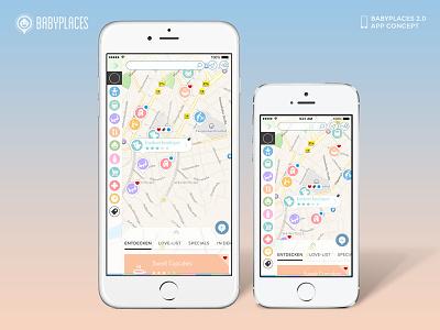 Dribble Mockup 6plus 4 3 800x600 babyplaces iphone ios8 6plus iphone6plus @3x interface ui ux flat