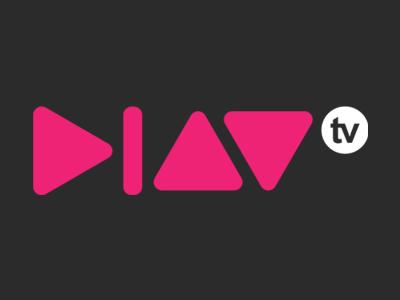 Play Logo v.2 logo play tv television pink white grey black