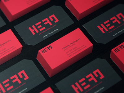 New personal business cards by herson rodriguez dribbble colourmoves Images