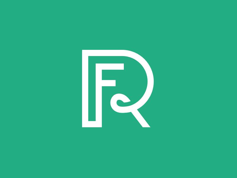 Re Fame Logo Monogram logo brand green best monogram design designer identity