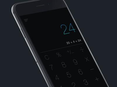 24 Calc iphone app ios best design designer calculator icon apple