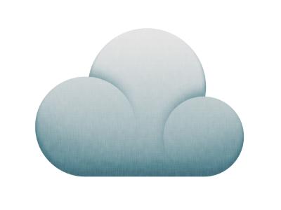 Cloud cloud icon blue grey white