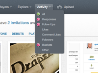 Activity notification for Dribbble 2