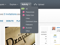 Activity notification for Dribbble 3