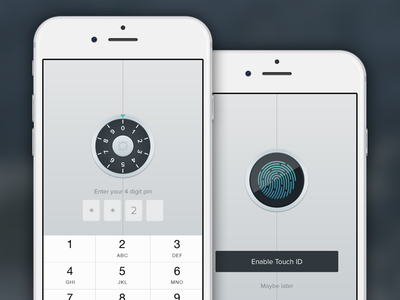 Secure Access iOS app touch id design best messaging email apple ios app iphone