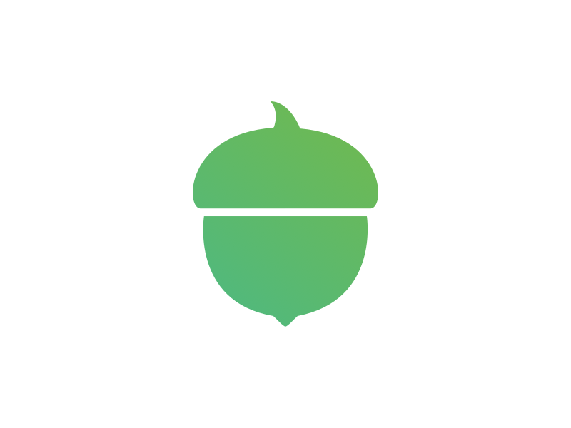 Joining Acorns acorns finance product design brand logo