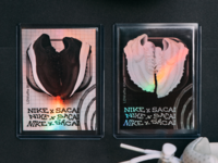 Sneaker Trading Cards holographic print product nike trading cards sneakers black