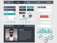 Freebie : Flat UI Kits For Free Download
