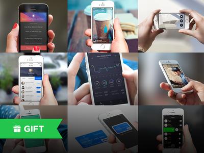 Freebie: 5 Awesome Hand Iphone Mockpups Templates For Download free ipad mockup free psd freebie free mockup psd ipad psd