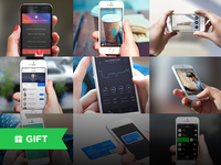 Freebie: 5 Awesome Hand Iphone Mockpups Templates For Download