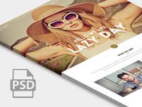 Freebie : Amazing Free One Page PSD Website Templates