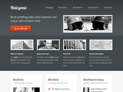 Halcyonic - Magazine Free Site Template html5 css3 responsive dark green magazine