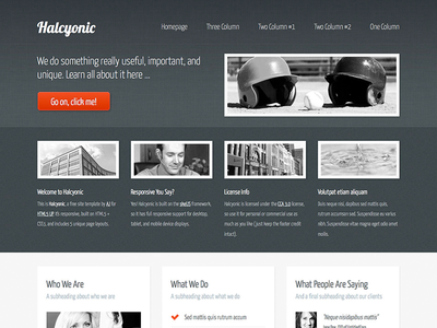 Halcyonic - Magazine Free Site Template