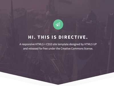 Directive - Responsive Free Site Template  html5 css3 responsive dark green magazine