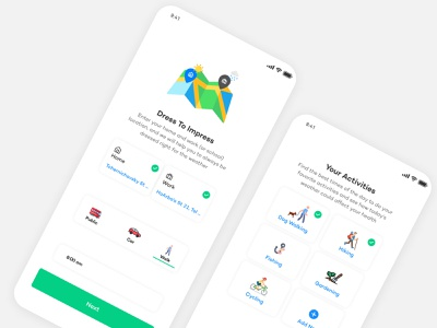 Climacell - Whether App uxui ui design ui uiux whitespace vector illustration vector icon minimal ux app design onboard onboarding screen onboarding ui onboarding illustration branding white whether