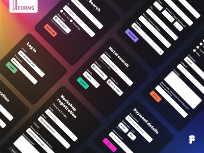 Form Templates in Figma ui design design system uikit mobile app interface ios design ux ui