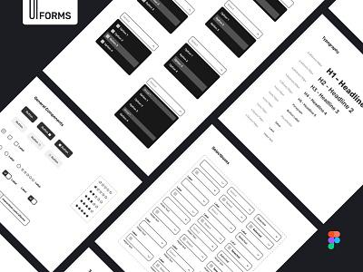 uiforms 800x600 05 web uxdesign design system ui design flat uikit mobile interface design ux ui