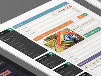 CMS Web Interface Design