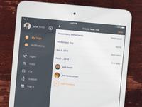 iPad Travel App Design