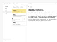 UX Design for Notes App