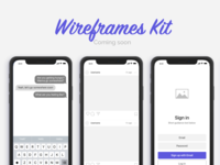 Wireframes Kit for iOS Apps