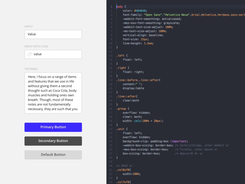 Basic UI Kit Code by Max Snitser on Dribbble
