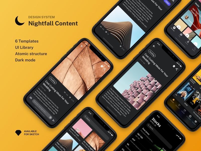 Nightfall Content Mini Design System