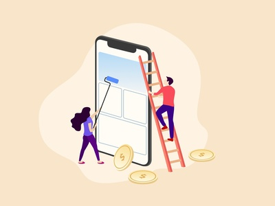 What Does It Cost To Design A Mobile App branding vector illustration blog design blog uxdesign ui design design system uikit sketch mobile design ios app ux ui