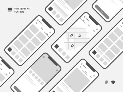 Wireframe Kit iOS interaction wireframe pattern template ux design iphone ui design vector design system application uikit sketch uxdesign mobile design ios interface app ux ui