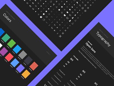 Nightfall Guidelines flat uxdesign ui design design system uikit darkmode dark shop sketch mobile design ios app ux ui
