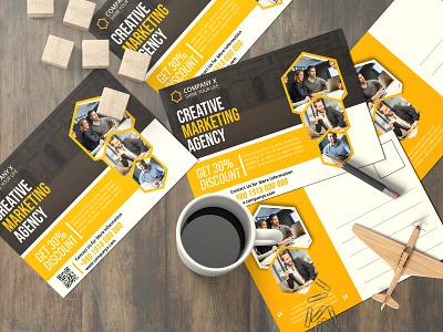 Business Post Card Design invitation card spa post card social media kit post design logo design graphic design branding letterhead design brochure design flyer design business card design card design post card alamgir214697 business post card design