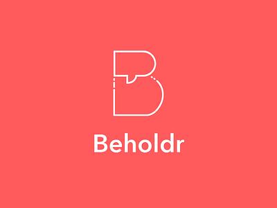 Beholdr - Podcast Network Logo speech bubble avenir typography network podcast mark logo
