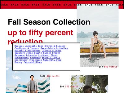 Brutalist Clothes Sale brutalism website fashion typography ui