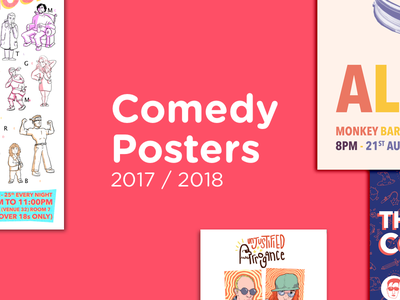 Comedy Posters 2017/2018 improv standup posters comedy